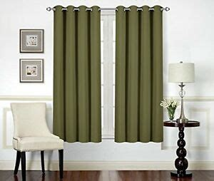 Olive Green Curtains Drapes - blackout room darkening curtains window curtain drapes