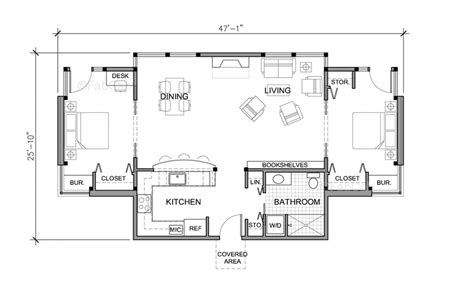 Floor Plans For 1 Story Homes by Cottage House Plans One Story Small One Story House Floor