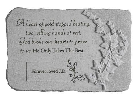 personalized memorial stone