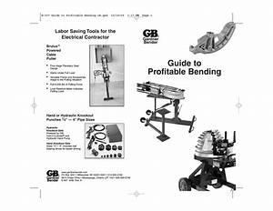 Gardner Bender Guide To Profitable Bending User Manual