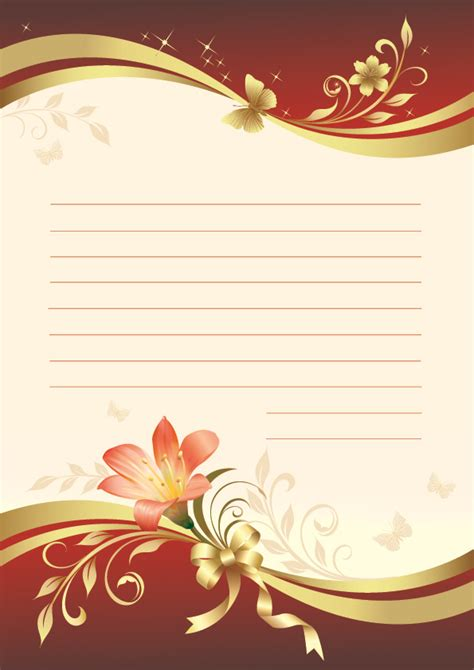 flowers stationery vector  vector vector