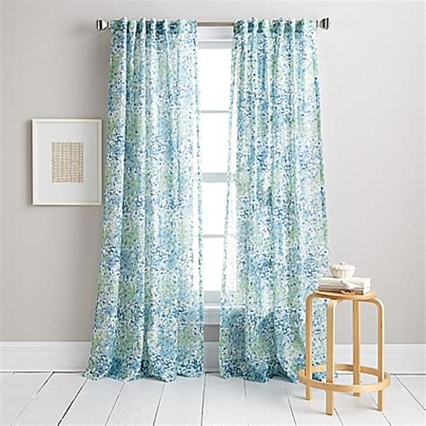 buy dkny modern botanical 63 inch window curtain panel in