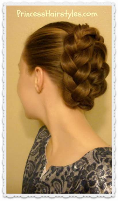French Braid Tuck Tutorial Updo Hairstyle Hairstyles