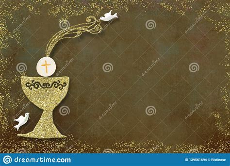 First Holy Communion Invitation Card Stock Photo Image