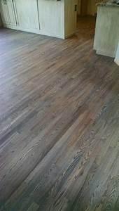 Red Oak floor, with custom gray stain Hardwood Floors