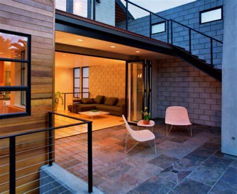 open   living room  folding patio doors