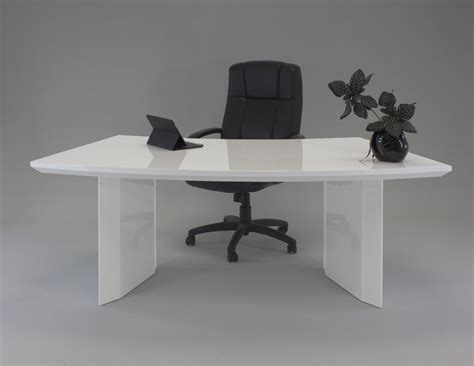 white desk modern modern white lacquer curved executive desk with mobile