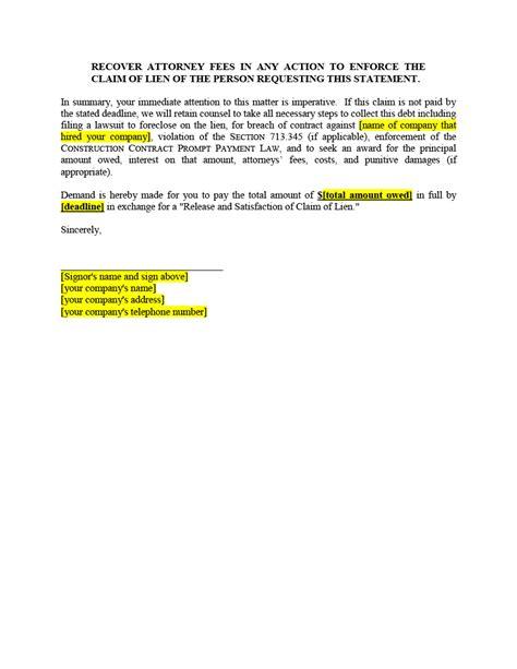 Final Lien Release Form