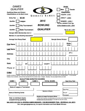 editable bowling recap sheets form samples