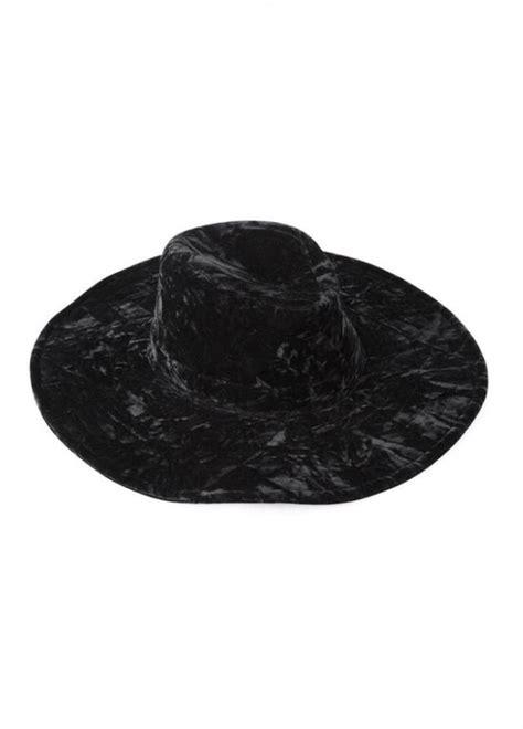 velvet witch hat killstar velvet witch brim hat attitude clothing