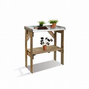 Etagere De Jardin : table de pr paration en bois pour semis avec tag res ~ Zukunftsfamilie.com Idées de Décoration