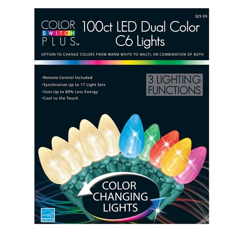 100 ct dual color led christmas lights change it up with