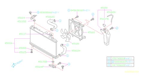 subaru baja fan motor assembly radiator engine cooling