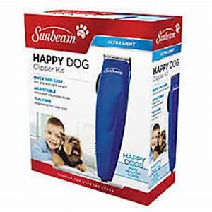 Sunbeam happy dog clipper kit dog hair clippers for Dog grooming kit petsmart