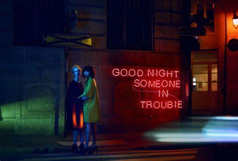 dramatic neon sign editorials stiletto magazine lost