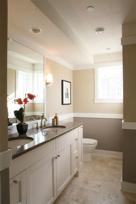 Neutral Color Bathrooms by Chicago Chair Rail Molding Bathroom Traditional With L