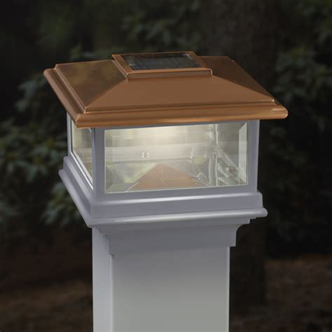 deckorators solar post cap light copper