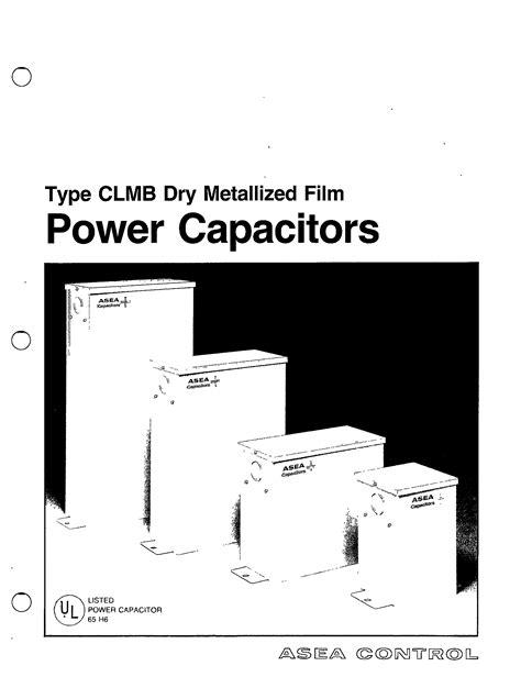 TYPE CLMB DRY METALLIZED FILM POWER CAPACITORS MANUAL ...