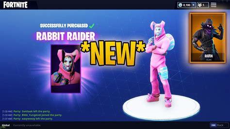 *brand New Easter Skin Rabbit Raider & Bunny Brawler* Fortnite Battle Royale Item Shop! 01.04