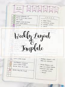 Weekly Simple Bullet Journal Layout