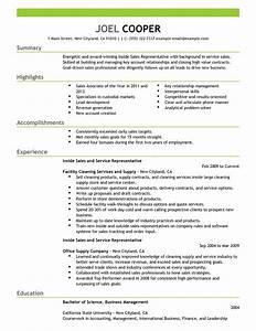 best inside sales resume example livecareer With inside sales resume sample