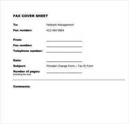 Office Fax Cover Sheet Template