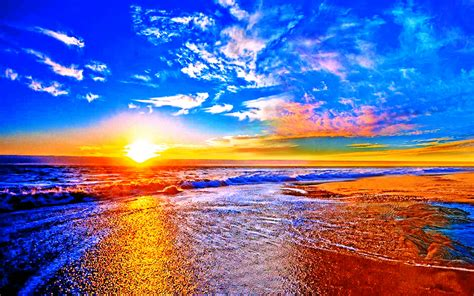 Amazing Beach Sunset Hd Wallpapers, Pictures And Images