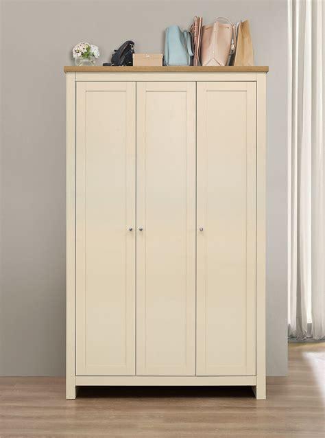painting wardrobes shabby chic havana 3 door painted wardrobe cream oak shabby chic ebay