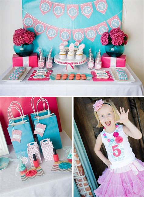 darling spa themed  birthday party  party time