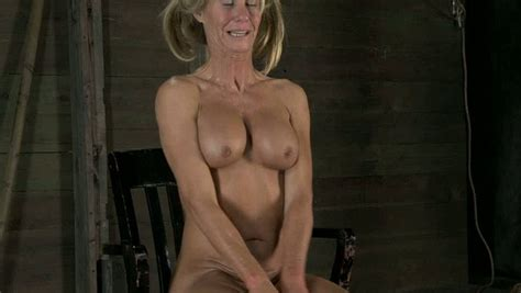 Blonde Mature Lady Was Naked On Her Knees Offering Her Mouth For Bdsm Video