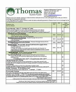 Lawn Care Service Agreement 10 Lawn Service Contract Templates Free Sample Example