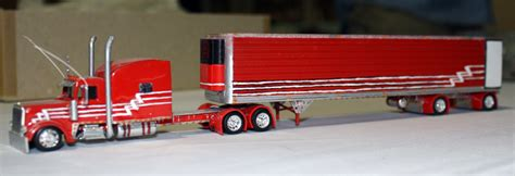 peterbilt  truck tractor  refrigerated trailer