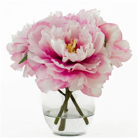 peony vase flash sale 47usd now 37usd silk peonies arrangement with