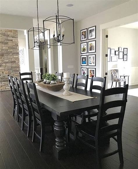 black kitchen table decorating ideas best 25 black dining tables ideas on interior