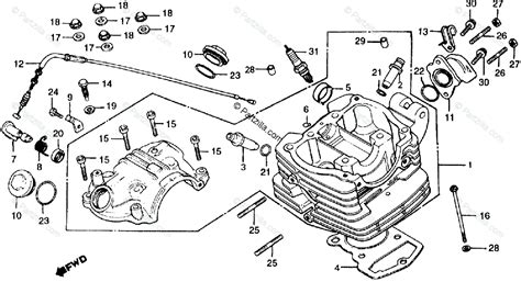 honda motorcycle 1983 oem parts diagram for cylinder partzilla