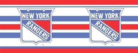 new york rangers 7 quot tall wallpaper border