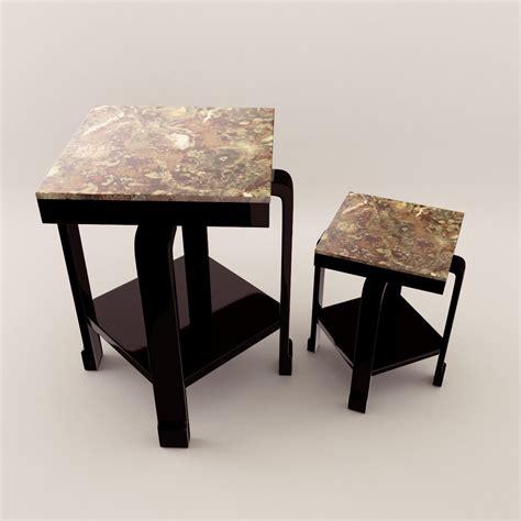 small deco deco small table 3d realistic model artium3d