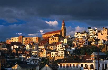 Antananarivo Madagascar Capital Britannica Dusk Superstock Lonely