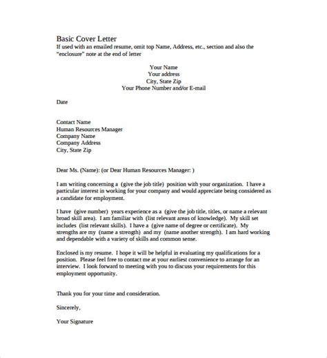 Simple Cv Cover Letters by Simple Cover Letter Template 36 Free Sle Exle