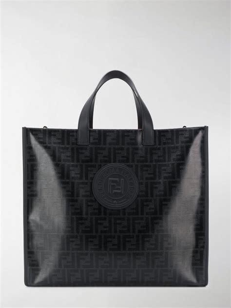fendi monogram tote bag  black  men lyst