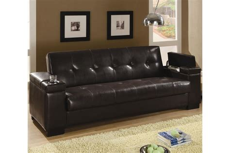 bed settee faux leather convertible sofa bed at gardner white