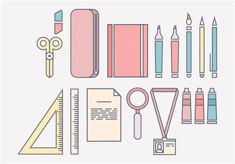 Office Supplies Vector by Vector Office Supplies Free Vectors Clipart