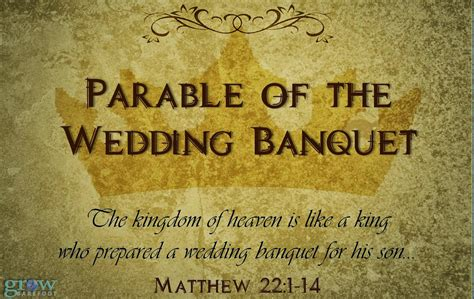 Choice...the Parable Of The Wedding Banquet