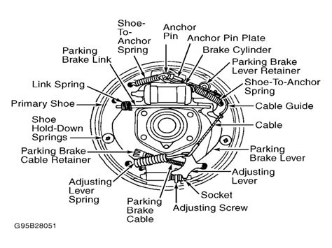 ford  rear drum  diagram wiring forums