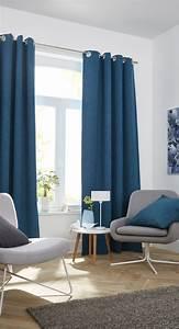 Rideaux Pour Salon Moderne : rideau occultant colours barcelona bleu 140 x 240 cm salons pi ces vivre pinterest ~ Teatrodelosmanantiales.com Idées de Décoration