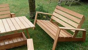 mobilier de jardin en palette de bois galerie et plan With plan salon de jardin en bois