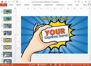animated comic book template for powerpoint With comic strip powerpoint template