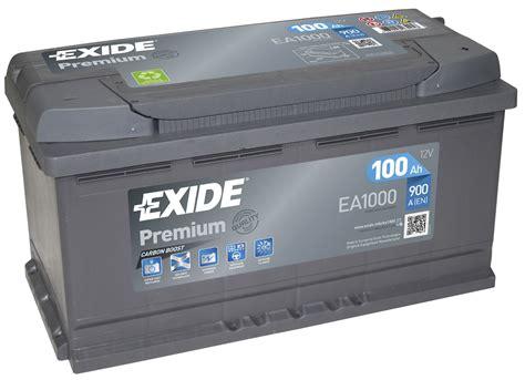 Exide Premium 017te Car Battery Ea1000