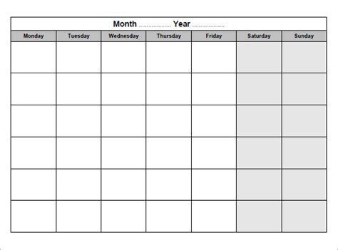 blank calendar templates  samples examples