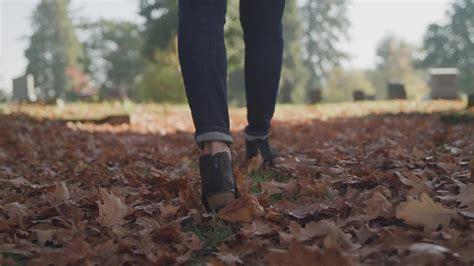 Woman Walking Through Cemetery - FILMPAC